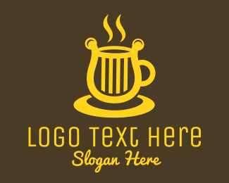 Stall - Harp Coffee Cup logo design
