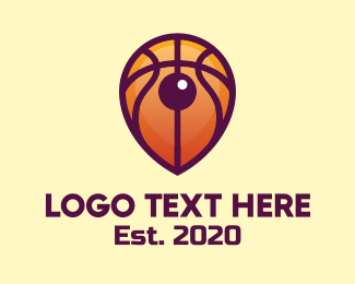 """""""Basketball Location Pin"""" by town"""
