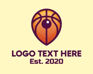 Fiba - Basketball Location Pin logo design