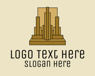 Urban Planner - Gold Skyscraper Realty  logo design