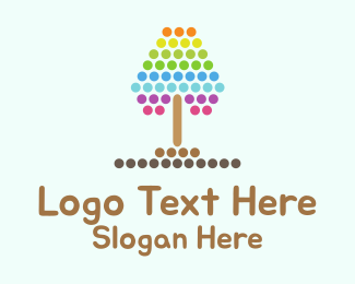 Dotted - Dotted Tree logo design