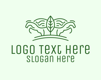 Stud - Green Horse Farming  logo design