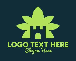 High - Marijuana Castle logo design