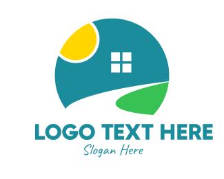 Lawn Service - Sunrise Subdivision Realty logo design