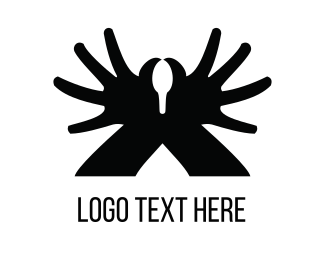 Finger - Black Hand Swan  logo design