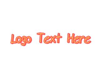 Sketch - Pink Handwriting logo design