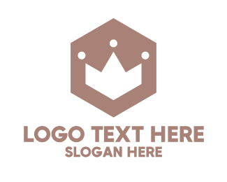 Jewelry Shop - Polygon Crown Badge logo design