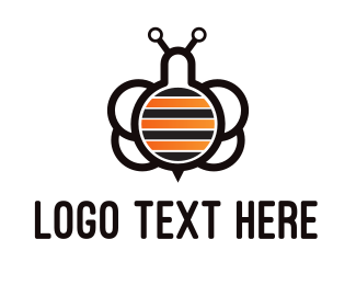 Black Insect - Lab Bees logo design