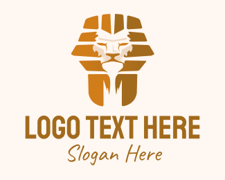Sphinx - Golden Lion Sphinx  logo design