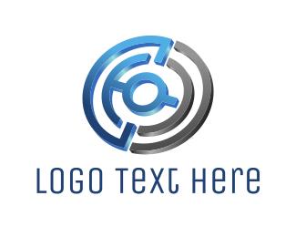 Target - Tech Maze logo design