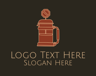 French Press - French Press Road Sign logo design