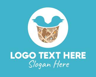 Twitter - Twin Pigeon Nest logo design