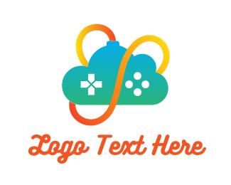 E Games - Gradient Cloud Controller logo design