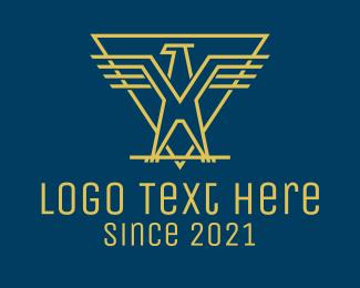 Military - Golden Eagle Rank  logo design