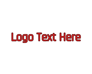 Programming - Red Modern Wordmark logo design