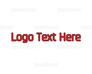Wordmark - Red Modern Wordmark logo design