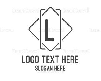Outlines - Square Line Lettermark logo design