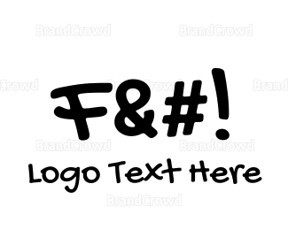 Exclamation Mark - F Word logo design