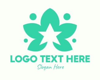 Herb - Green Herb Star logo design