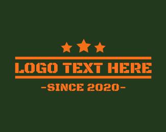 Text - Army Orange Text logo design