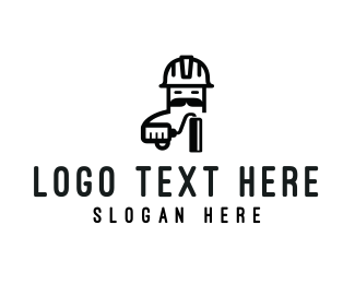 Paintbrush - Painter Cartoon logo design