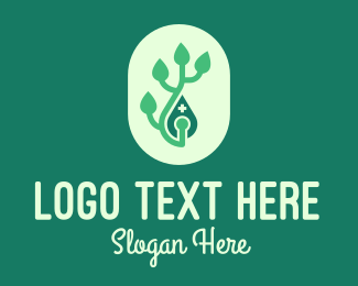 Natural Medicine - Green Organic Pharmacy logo design