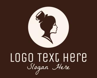Homemade - Lady Coffee Barista logo design