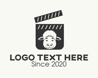 Tv Show - Sheep Film Clapperboard logo design