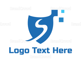 Firewall - Pixel S Shield  logo design