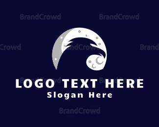 Bird - Moon Bird logo design