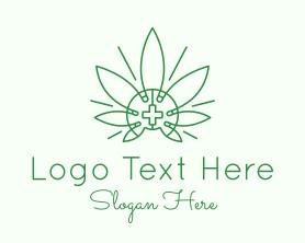 Medical Marijuana Outline Logo