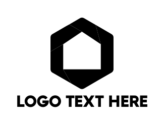 Black Hexagon - Home & Lens logo design