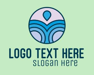 Resort - Beach Waves Resort logo design