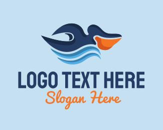 River - Pelican River logo design