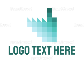 Manufacture - Pixel Factory logo design