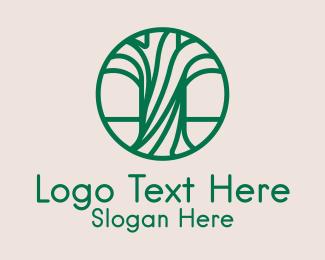 Trunk - Green Forestry Botanical logo design