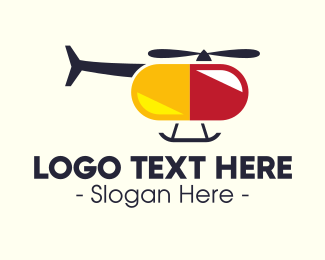 Medical Staff - Helicopter Pill  logo design