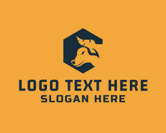 Polygon - Polygon Bull logo design