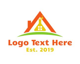 Bio Tech - House Flask logo design
