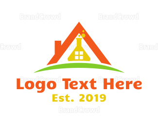 Research - House Flask logo design