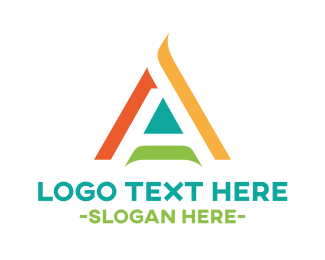 Graphic Design - Abstract Letter A logo design