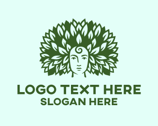 Hairstyle - Eco Face logo design