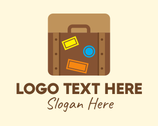 Backpacker - Travel Luggage App logo design