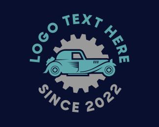Auto Shop - Gear & Car logo design