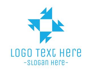 Kaleidoscope - Triangle Star logo design