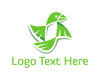 Green And White - Green Parrot logo design