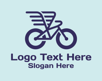 Courier - Winged Courier Bike logo design