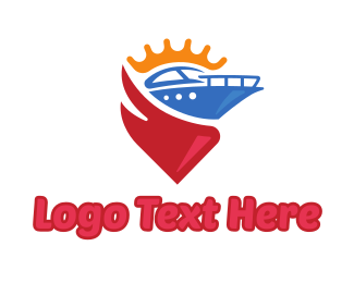 Boating - Luxury Boat King logo design