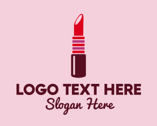 Cosmetology - Bright Red Lipstick  logo design