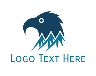 Cold - Blue Mountain Eagle logo design